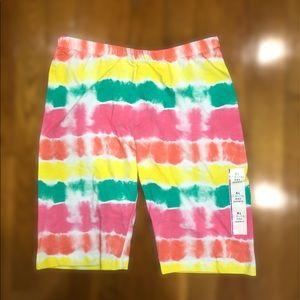 Tie Dye Biker Shorts NWT Girls Size 14/16